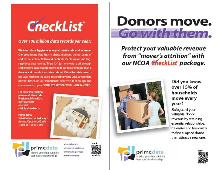Donors Move Go With Them Brochure