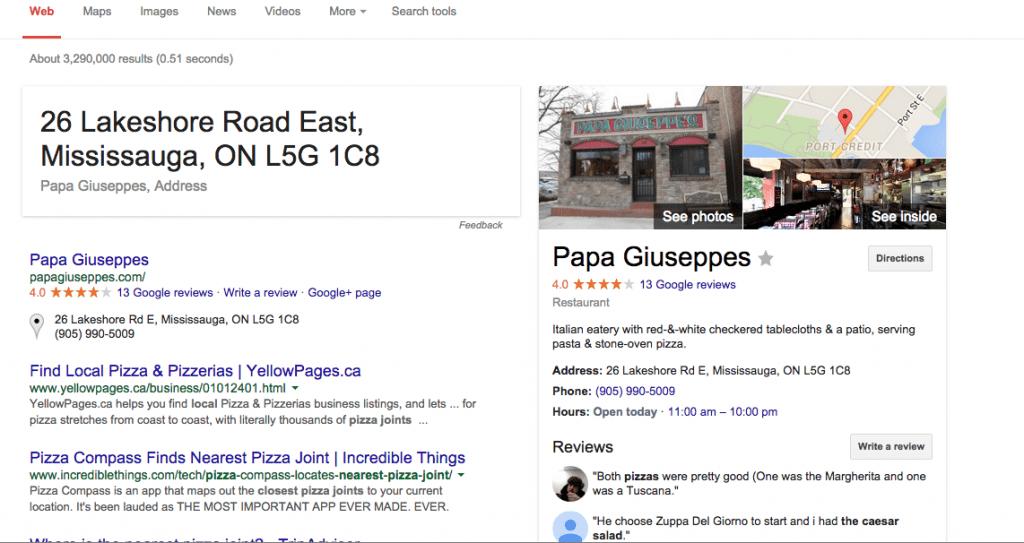 Papa Giuseppes port credit